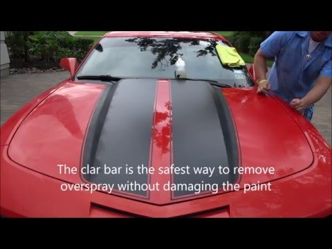 "National Overspray Removal Services ""how to remove Epoxy paint overspray using the clay bar"""