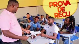 PROVA FINAL DE RECUPERAÇÃO (Tempos de Escola)