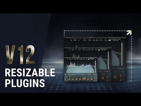 How To Resize Waves Plugins   Waves V12 New Feature