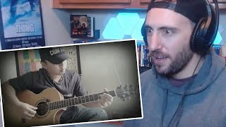 Alip ba ta - The Godfather theme song fingerstyle guitarcover - American Reaction