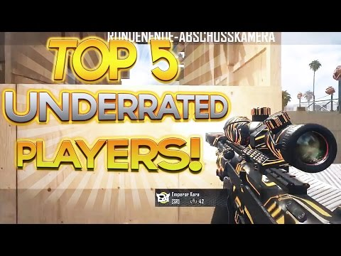 Scarce: Top 5 Underrated PLAYERS! 2 SURPRISE Red Recruits! BO2 / Black Ops 2 Trickshots