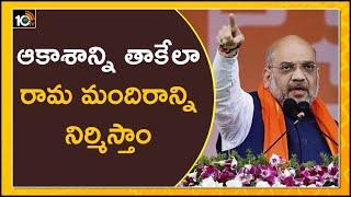 ఆకాశాన్ని తాకేలా రామ మందిరాన్ని నిర్మిస్తాం | Amit Shah welcomes Supreme Court verdict on Ram Mandir