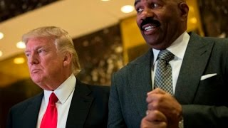 Steve Harvey Says Trump Is Keeping His Promise