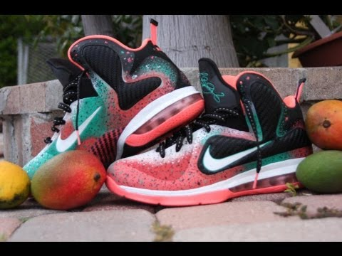 premium selection 3d8e0 f234f get nike lebron 9 palm beach nights mango custom 59515 c190a