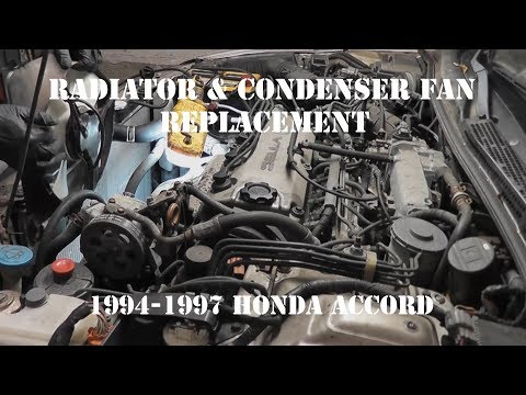 1994 - 1997 Honda Accord Radiator Fan and Condenser Cooling