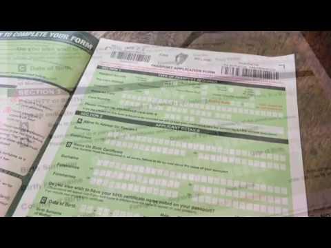 Irish Passport Application Youtube