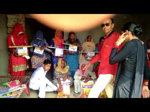 Maa Ganga Jan Kalyan trust Sirsa Gaon Haripura Mein garibo ki sahayta karte huye