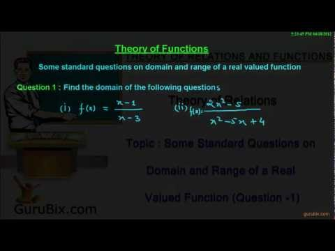 How to find domain and range of a real valued function (Part-1) | Theory of Functions | Math Lessons