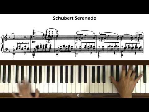 Schubert Serenade Piano Tutorial at Tempo (with Score)