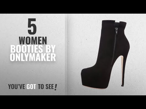 Top 10 Onlymaker Women Booties [2018]: Onlymaker Women's Handcrafted Rounded Toe Side Zipper Slim
