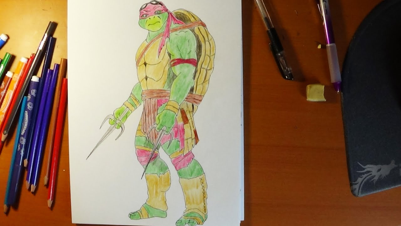 How To Draw Ninja Turtles Raphael From Movie 2014 YouTube
