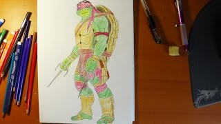How to draw ninja turtles - Raphael from movie 2014