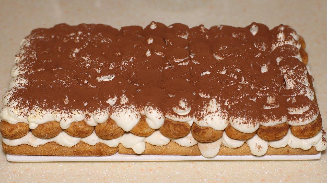 Тирамису без яиц. Новогодний десерт без выпечки.