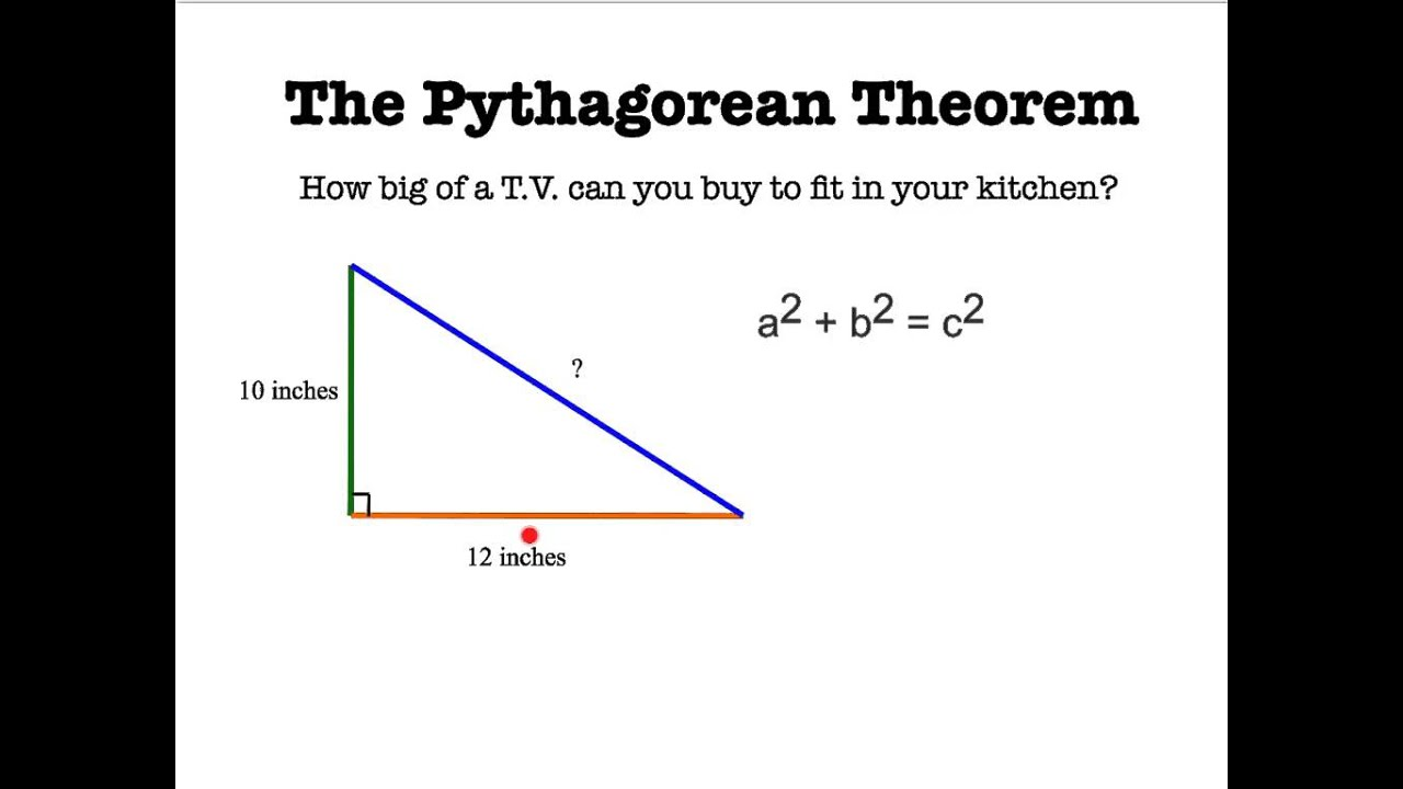 the pythagorean theorem Pythagorean theorem: pythagorean theorem, geometric theorem that the sum of the squares on the legs of a right triangle is equal to the square on the hypotenuse.