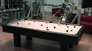 Playing Pool with a Dual-Armed Robot