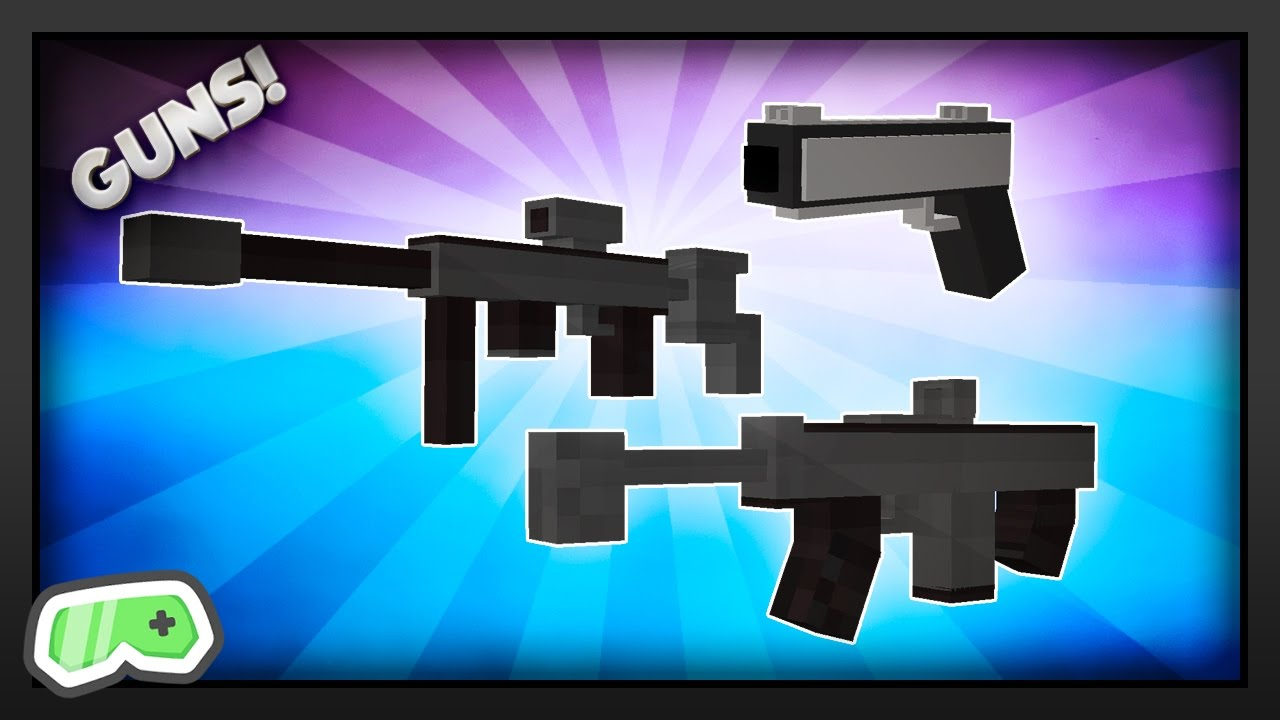 how to get guns in minecraft ps4