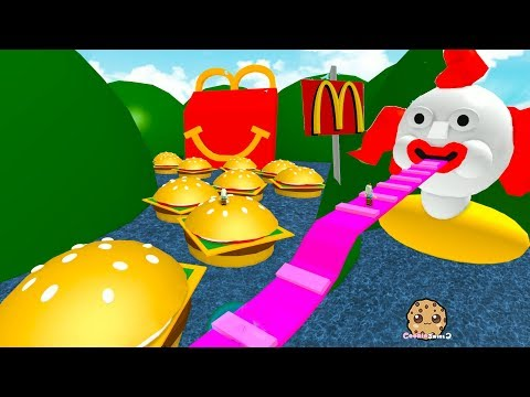 Thumbnail: Giant Happy Meal & Burgers ! Roblox McDonalds Obby - Fast Food Restaurant Online Game Video