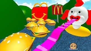 Giant Happy Meal & Burgers ! Roblox McDonalds Obby - Fast Food Restaurant Online Game Video