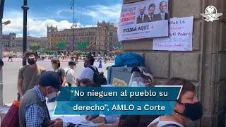 El Presidente Andrés Manuel López Obrador pidió a los ministros de la Corte no negar al pueblo su derecho de participación y que se haga valer a plenitud la democracia