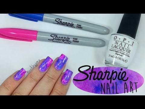 Sharpie Watercolour Nail Art