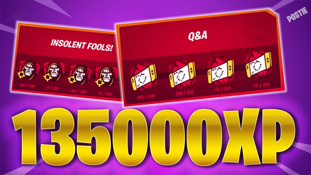 """HOW TO COMPLETE D-03 Punchcard """"Insolent Fools"""" and """"Q&A"""" Fortnite Season 4 FREE XP Challenges"""