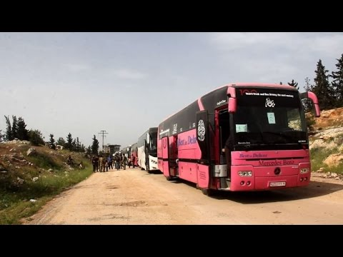 Syria evacuees on move again after 48-hour delay