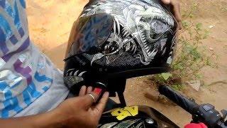 THH Helmet T-71 (Grey meta dragon) Review | Cheapest DOT Helmet in INDIA