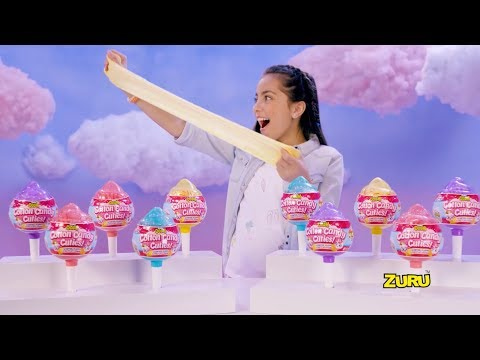 ZURU Oosh Cotton Candy Cuties!   NEW SCENTED SLIME WITH SURPRISE SQUISHY CUTIE