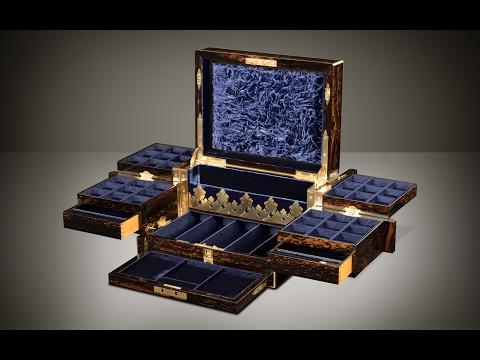Daniellucian.com - Antique Jewellery Box in Coromandel with Betjemann Patent Mechanism