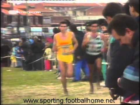 Atletismo :: Domingos Castro vence crosse em Fuensalida (Espanha) (7/1/1990)