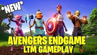 *NEW* FORTNITE AVENGERS ENDGAME LTM GAMEPLAY (16 Kills - Captain America Shield has aimbot!)