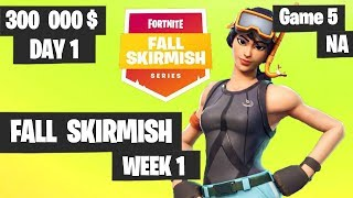 Fortnite Fall Skirmish Week 1 Day 1 Game 5 NA Highlights (Group 2) - Hold The Thrones