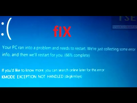 How to fix KMODE_EXCEPTION_NOT_HANDLED (dxgkrnl.sys) BSOD Windows ...