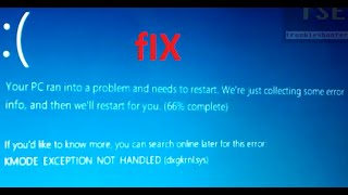 How to fix KMODE_EXCEPTION_NOT_HANDLED (dxgkrnl.sys) BSOD Windows 8.1