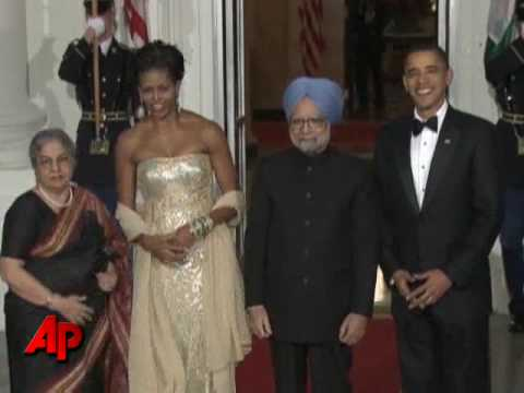 Raw Video: Obama Greets Indian PM at White House