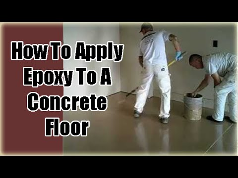 Applying Garage Floor Epoxy Coatings Part 3 Youtube
