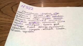 Задание №322. Русский язык 5 класс Ладыженская.