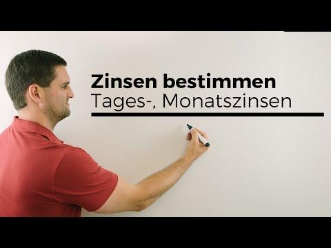Zinsen Bestimmen, Tages-, Monatszinsen   Mathe By Daniel Jung