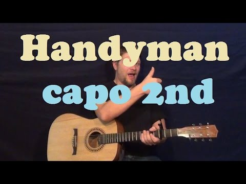 Handyman James Taylor Guitar Lesson Easy Strum Chords How To Play