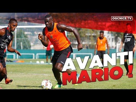 Le premier entraînement niçois de Mario Balotelli