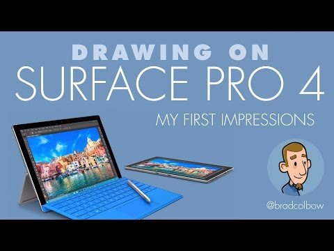 Drawing on the Surface Pro 4 - First Impressions