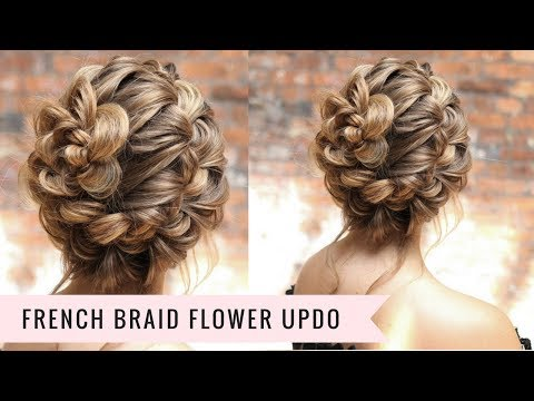 French Braid Updo Super Easy Hair 2018