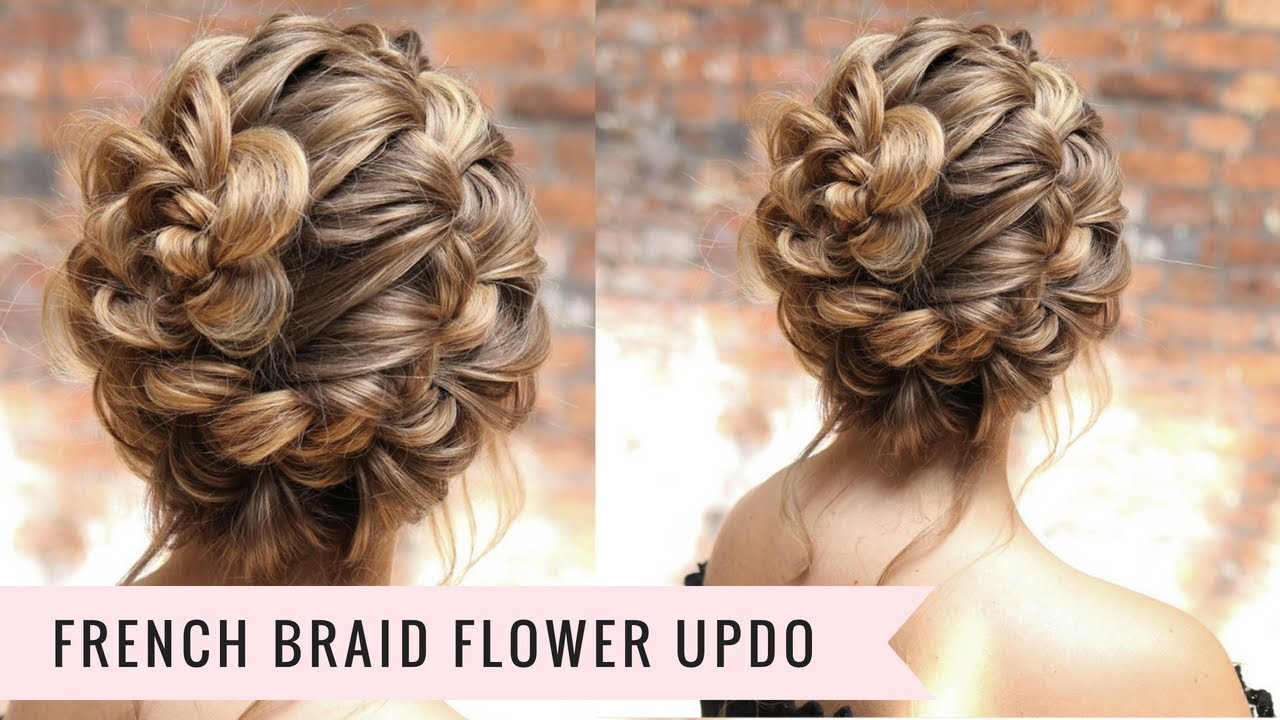 french braid updo (super easy🙌🏻) by sweethearts hair