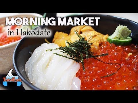 Hakodate Morning Market-Amazing Seafood and Squid Ice Cream! (HOKKAIDO TRAVEL)