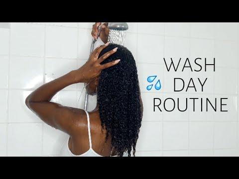 ROUTINE CAPILLAIRE CHEVEUX CREPUS    NATURAL HAIR WASH DAY ROUTINE (Du Début à La Fin !)