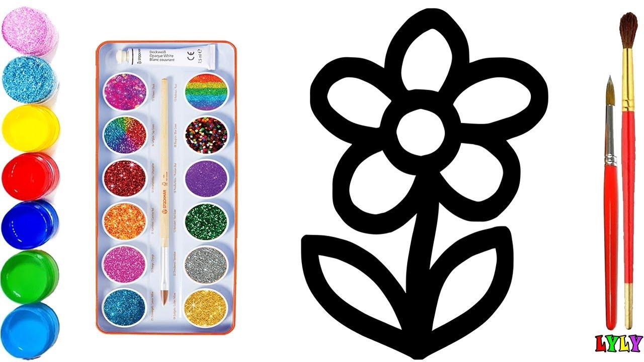 Dạy Bé Học Vẽ | Dạy bé học vẽ bông hoa | Vẽ và tô màu bông hoa đơn giản nhất | Lyly Toy Art