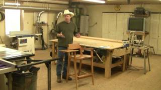 Building The Ultimate (and I Mean Ultimate) Shop Stool.  Dvd And Included Templates