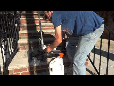 floor jack fluid change out