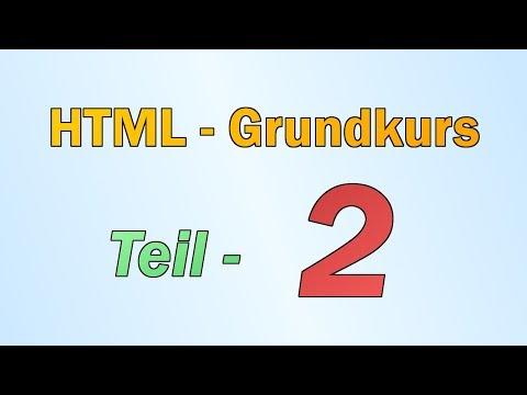 HTML - Teil 2 - Formatierung Von Texten