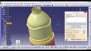CATIA online training | how to design a water bottle and add a sticker on the bottle thumbnail